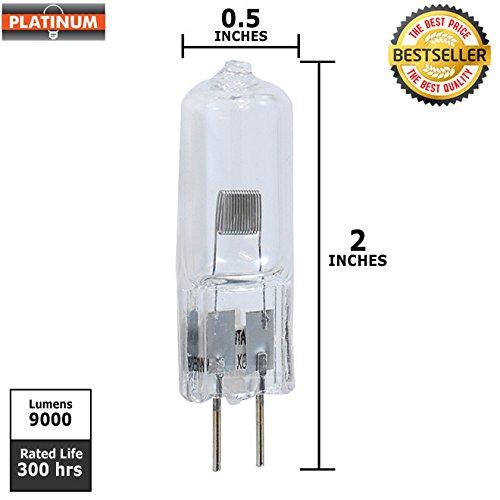 EIKO EVC/FGX T-4 G6.35 Base Halogen Bulb, 24V/250W