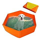 Pet Swimming Pool Portable Foldable Pool Dogs Cats Bathing Tub Bathtub Kiddie Pool for Dogs Cats and Kids-31.5011.81in