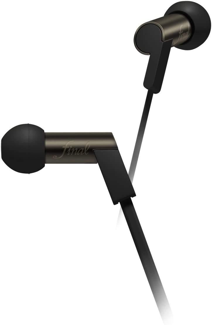 Final Audio Design Heaven V Balanced Armature Earphones, Brass/Black Chrome-Plated Finish