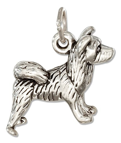 Charm Akita Dog - Sterling Silver Three Dimensional Akita Dog Charm