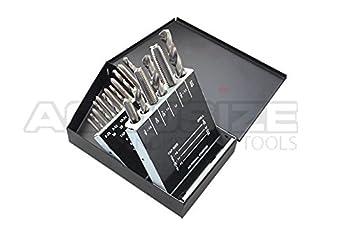 AccusizeTools - 18 Pcs/Set H.S.S. Tap & Drill Set, UNC, 0001-0040
