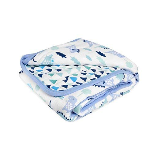 - aden by aden + anais Dream Blanket 100% Cotton Muslin 4 Layer lightweight and breathable Large 44 X 44 inch Dinos