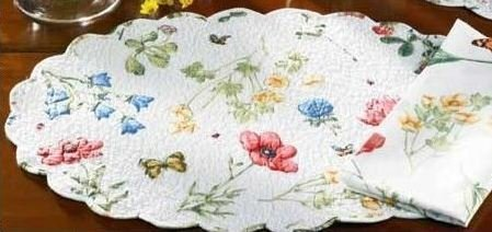 oval quilted placemats - 2