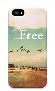 Vintage Retro Quote Be Free Iphone 5 5s 3D case Image Full Wrap by Maris's Diary