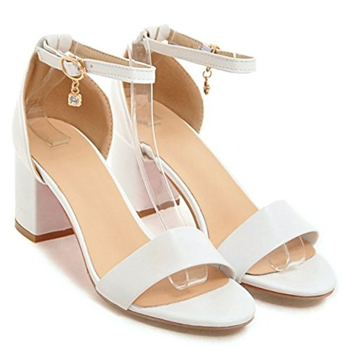 1 Fashion Women Zanpa Heels Sandals White n7U0fq0I