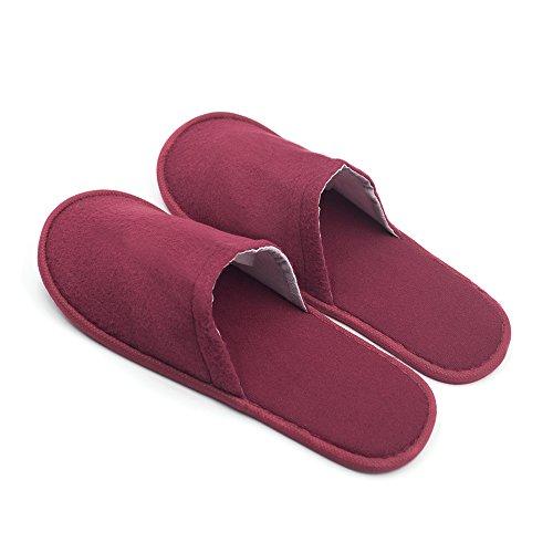 Opromo , Damen Hausschuhe Rot