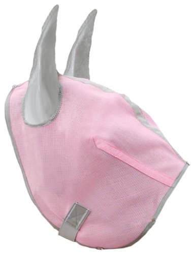 Hamilton Fly Mask for Horses Without Ears - Large - Pink Diamond by Hamilton (Image #1)