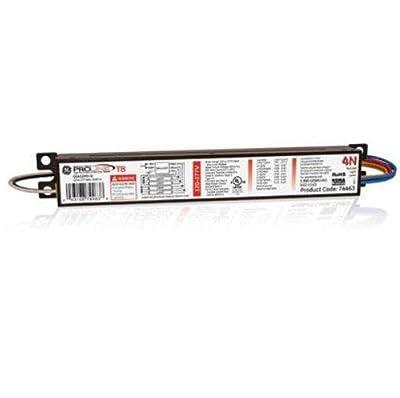 GE Lighting 74463 (4-Pack) GE432MV-N Multi-Volt ProLine Electronic Fluorescent T8 Instant Start Ballast, 120 to 277-Volt, 3 or 4 F32T8 Lamps