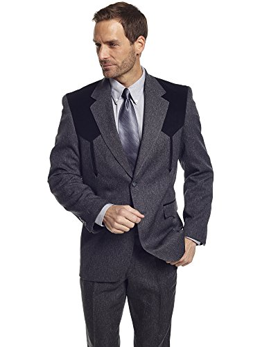 Circle S Men's Boise Western Suit Coat Big And Tall Hthr Chrcl 52 - Boise Outlets