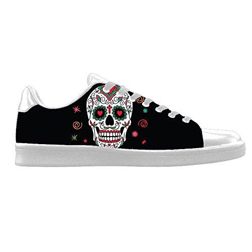 Vela Tela S Up Sneakers Scarpe Canvas Men' Lace Skull Di Top High E Panno Custom A Shoes qRTB1