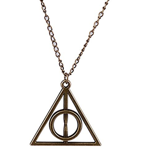 Accessorisingg Harry Potter Inspired Bronze Deathly Hallows Pendant -