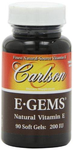200 Iu Natural - Carlson Labs E-Gems Natural Vitamin E, 200 IU, 90 Softgels