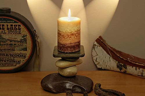 The Tamarack Lodge Stone Candle Holder For Sale