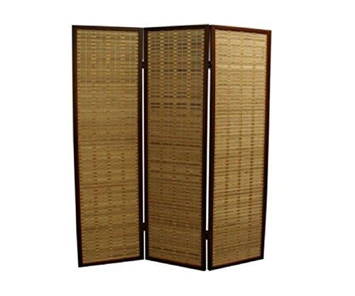 (ORE International NYBP-084-3 3-Panel Room Divider, 70.25-Inch, Walnut Rayon)