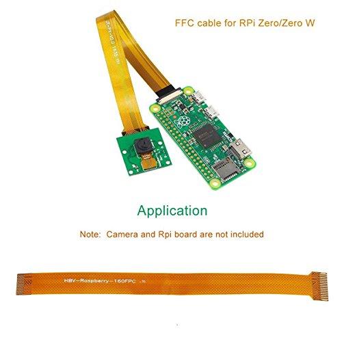 Makerfocus 2pcs Raspberry Pi Camera Cable FFC 15CM for