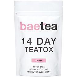 Baetea 14 Day Teatox Detox Herbal Tea Supplement (14 Tea Bags).