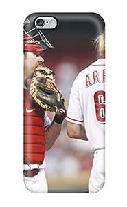 Slim Fit Tpu Protector Shock Absorbent Bumper Cincinnati Reds Case For Iphone 6 Plus