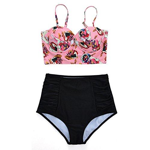 bagno donne Macxy Swimwear sexy retr Beach alta femminile usura da serie vita costume delle del bikini l'alto bagno lo bikini verso costume spingono da vecchio wS007qXpr