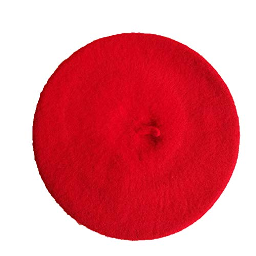 Kids Children Unisex Imitation Wool Warm Beret Beanie Hat Cap Autumn Winter Caps Gift H9,Red ()