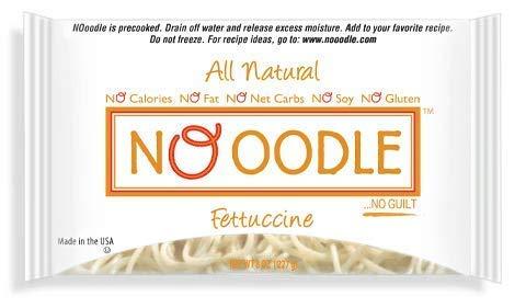 NOoodle No Carb Pasta, Noodle Alternative, Zero Calories, Gluten Free, Keto Friendly, Best Tasting Shirataki Noodles (Fettucine, 12-pack) by NO OODLE