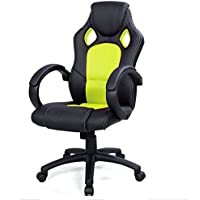 Goplus High Back Green Race Car Style Bucket Seat Office Desk Gaming Chair
