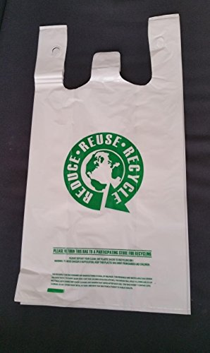 50 Large Reusable T-shirt Bags Grocery Shopping Bags Heavy Duty