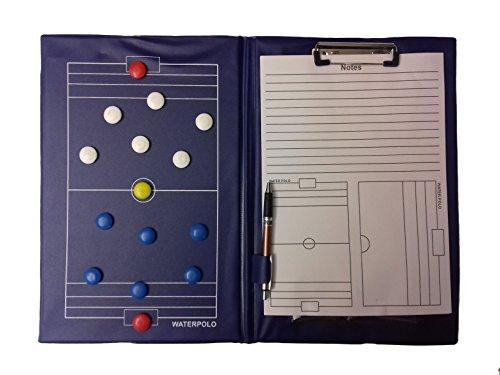MuMa Sport Tactic Board–Water Polo–Magnetic Tactic Board Waterpolo, Block Notes, Pen