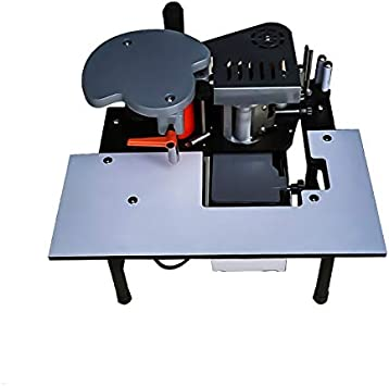 WXQ-XQ Double Sided Glue Portable Edge Bander Adjustable Speed and Temperature Manual Woodworking Banding Machine Gluing Machine