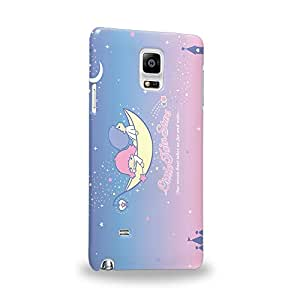 Case88 Premium Designs Little Twin Star Kiki And Lala Dreamy Diary 1345 Protective Snap-on Hard Back Case Cover for Samsung Galaxy Note 4