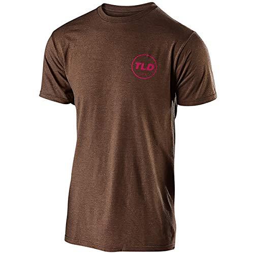 (Troy Lee Designs Men's Massive Come Up T-Shirt (Large, Brown Heather))