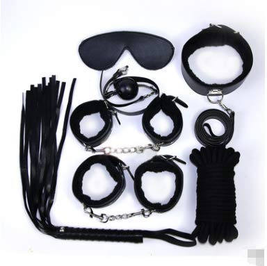 MZDWK Sexy Leather Suit Shackles to Compel Stretch Legs SM Binding Bondage (7-piece set) by MZDWK