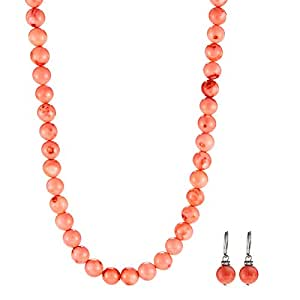Wonder Seas Mixed Beads Necklace & Earrings Set - 3 Pieces, WS0148