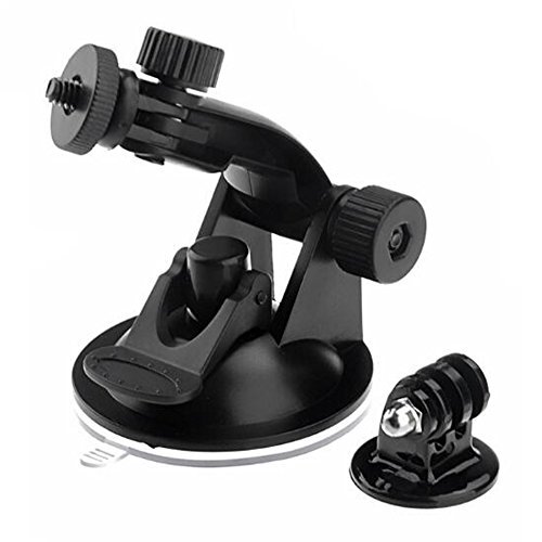 Walway Action Camera Car Suction Cup Mount+ Tripod Adapter for GOPRO Hero 6/ 5/5 Session/ 4 Session/ 4/ 3+/ 3/ 2/1, and Other Action Camera, Smartphone, GPS