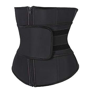 Kiwi-Rata Shaper Abdominal Belt High Compression Zipper Neoprene Waist Trainer Cincher Corset Body Fajas Sweat