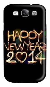 2014 Happy New Year Light Painting Bokeh Custom Polycarbonate Hard Case Cover for Samsung Galaxy S3 SIII I9300