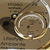 Lifestyle-Ambiente Profi-Haarhygrometer gold-klein Made in Germany