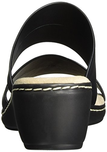 Jana27205 - Sandalias de Punta Descubierta Mujer Negro (Black 001)