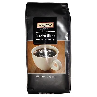 Daily Chef 100% Arabica Roasted Ground Coffee Sunrise Blend 2lb