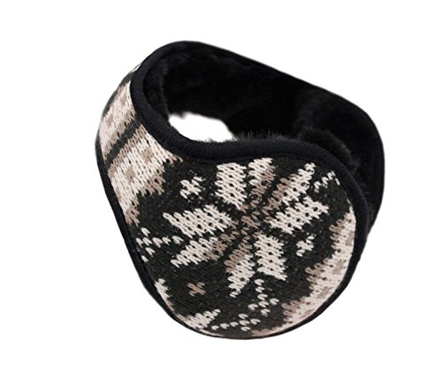 Iuway Unisex Knitted Foldable EarMuffs Fleece Lined Warm Winter Outdoor EarMuffs