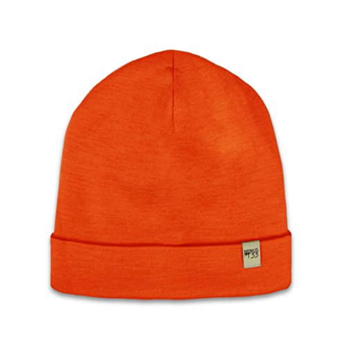(Minus33 Merino Wool Ridge Cuff Beanie Blaze Orange One Size)