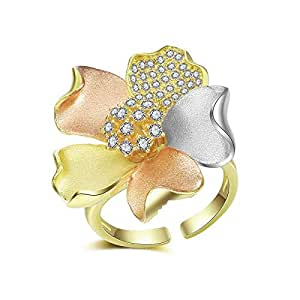 Mytys Flower Blossom Luxury Colorful Women Nigeria Wedding Naija Bride Cubic Zirconia Rings for Women Jewelry Accessories