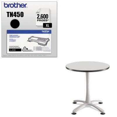 KITBRTTN450SAF2461SL - Value Kit - Safco Cha-Cha Sitting Height Table Base (SAF2461SL) and Brother TN450 TN-450 High-Yield Toner (BRTTN450) by Safco
