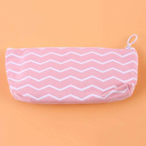 Women Zipper Crystal Canvas Makeup Pouch Pencil Case Pen Coin Purse Bag S (Main Styles - 2#)