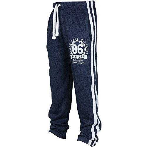 Yuxikong Men's Sport Jogging Fitness Pant Casual Loose Sweatpants Drawstring Pant (Navy, 2XL)