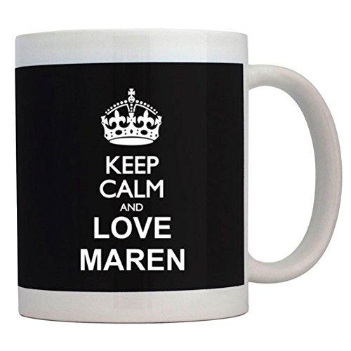 Fuuny Coffee Mugs Keep calm and love Maren Mug
