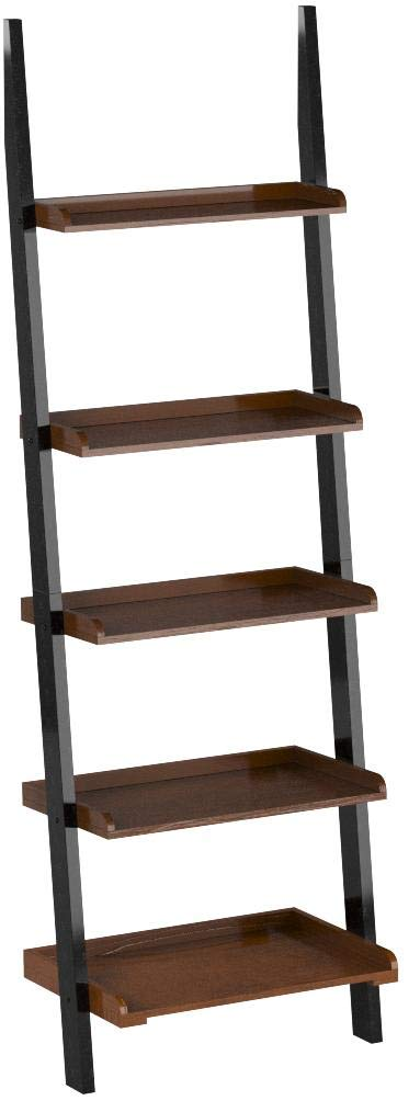 Convenience Concepts French Country Bookshelf Ladder, Dark Walnut & Black by Convenience Concepts
