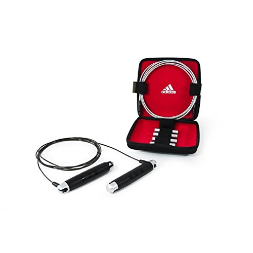 adidas Skipping Rope Set With Carrying Case - Black