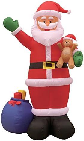 7 FT Inflatable Christmas Drunk Santa Claus with Beer Mug and Gift Bag