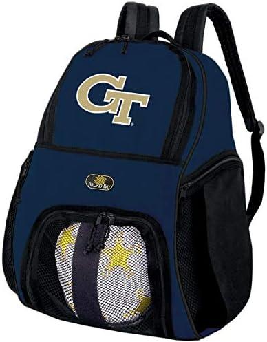 Georgia Tech Soccerバックパックまたは黄色ジャケットバレーボールボールバックパック