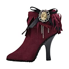 This high heeled shoe jewelry display holder can accommodate 5 rings separately. Available in three beautiful shades: Olive, Pink, & Burgundy. This ring holder is a perfect addition to your vanity or nightstand. You can also place it on y...